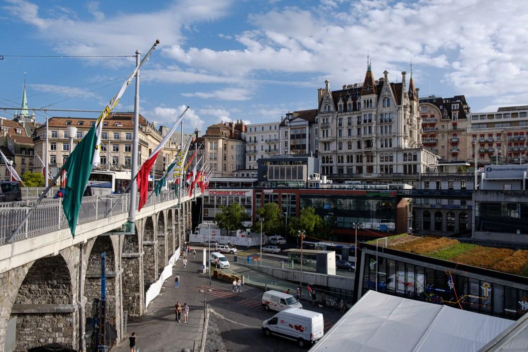 centre ville lausanne suisse