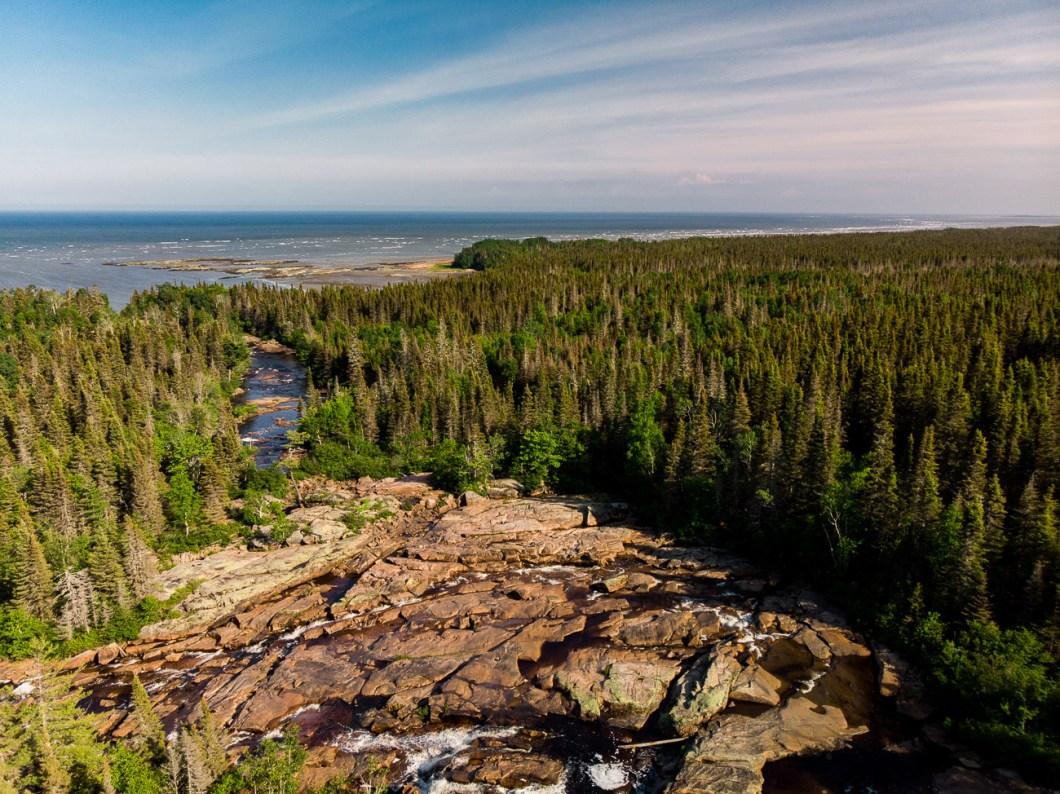 côte-nord québec canada forêt drone