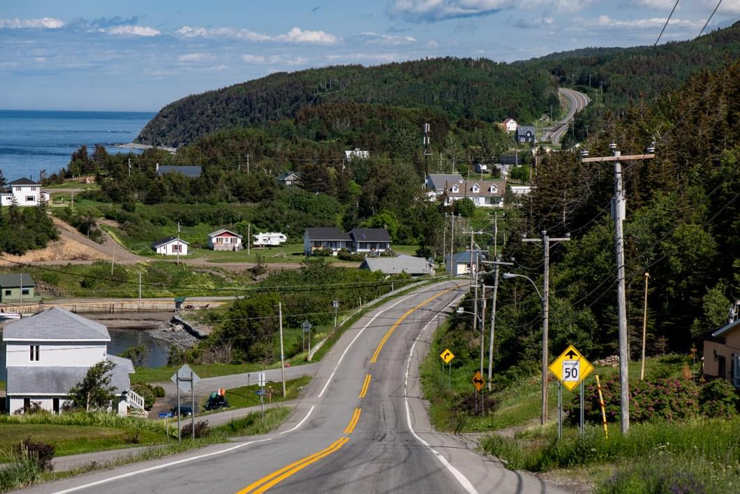 route 132 nord gaspésie canada