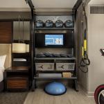 Una cadena de hoteles ofrece habitaciones con mini gimnasios adentro de la habitación
