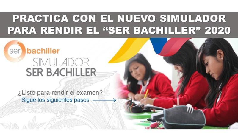 """PRACTICA CON EL NUEVO SIMULADOR PARA RENDIR EL """"SER BACHILLER"""" 2020"""