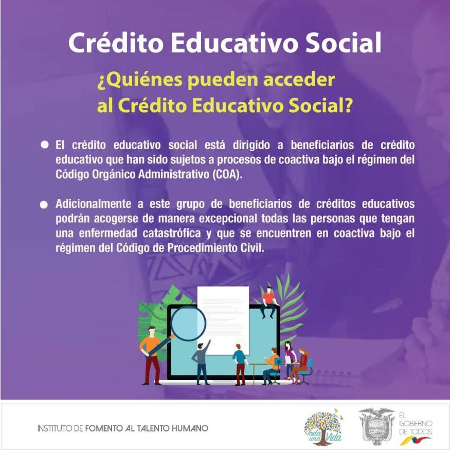 a quienes beneficia el crédito educativo