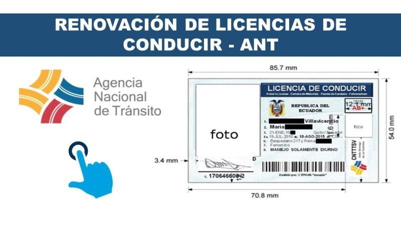 renvovacion de licencias de conducir ANT 2
