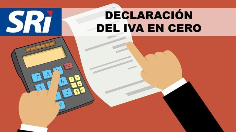 Declaración del IVA en Cero - SRI en línea