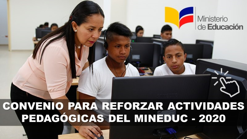 Convenio para reforzar actividades pedagógicas del MinEduc