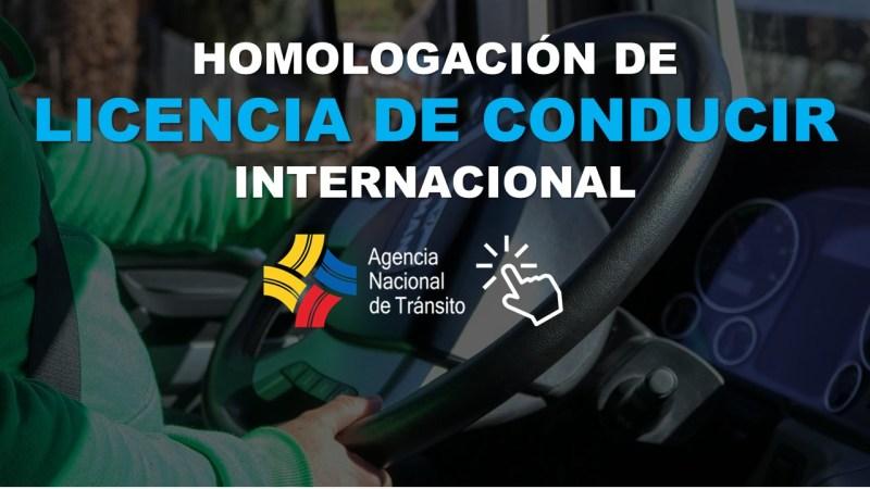 Homologación de Licencia de Conducir Internacional ANT 1