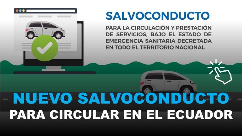 Nuevo Salvoconducto para Circular en el Ecuador