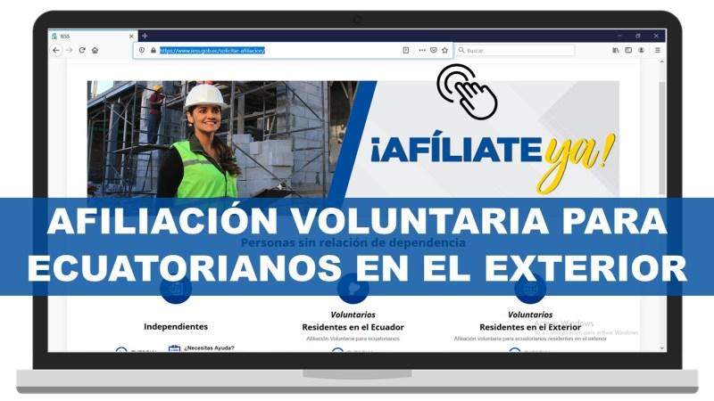 Afiliación Voluntaria para Ecuatorianos en el Exterior
