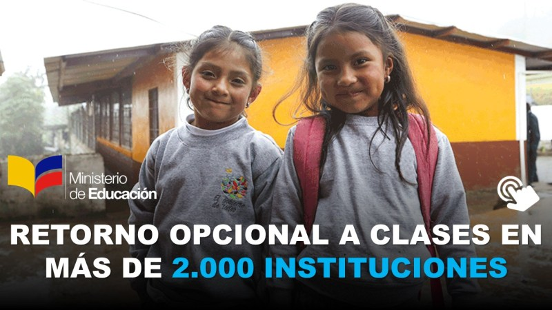Retorno Opcional a Clases en más de 2.000 Instituciones