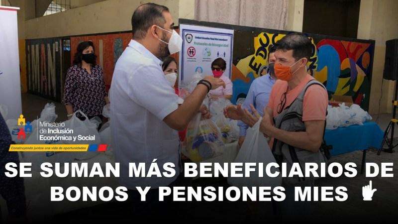 Se suman más Beneficiarios de Bonos y Pensiones MIES