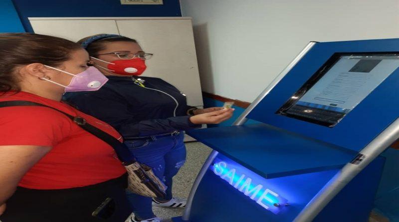 ¿Qué se puede hacer en las máquinas de autogestión instaladas por el Saime?
