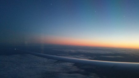 Flight, Evening, wings,