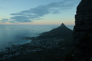 Lions Head from the other side. You can see the distance we have made - I took a picture of Lions Head from the other side!