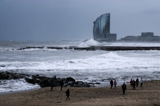 This is not a typical postcard shot from Barcelona. But I am kind of glad I went to see this time of the year.