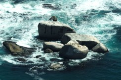 Big rocks in Camps Bay, Cape Town, South Africa