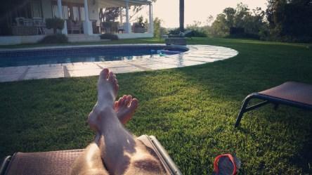 Relaxing at a citrus farm