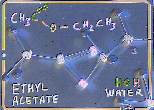 Image of Ethyl acetate glowing for cover