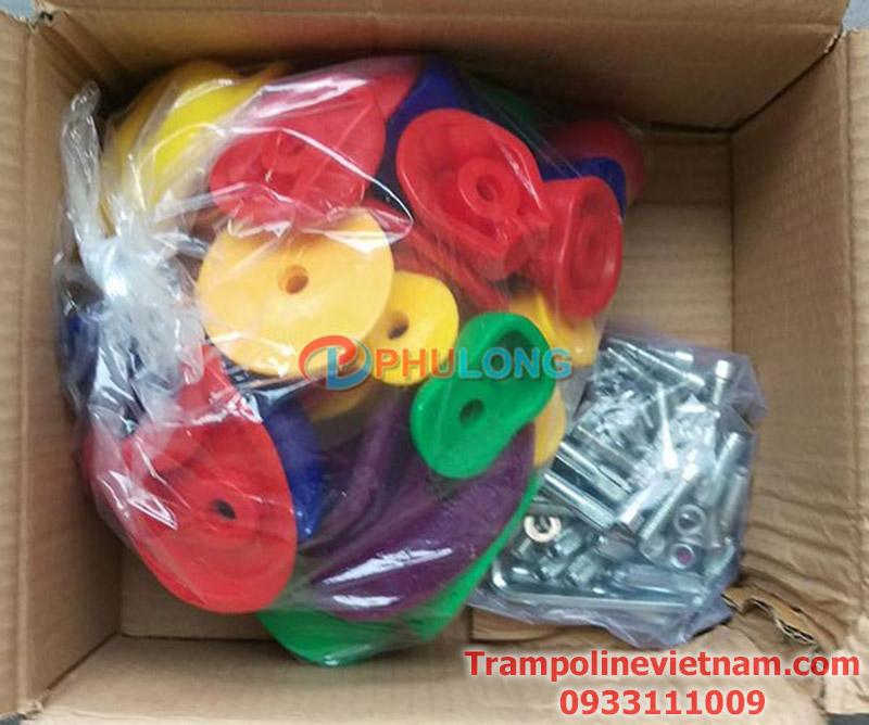 Bộ cục nhựa gắn tường leo núi 32 mấu PL0810-B (1)