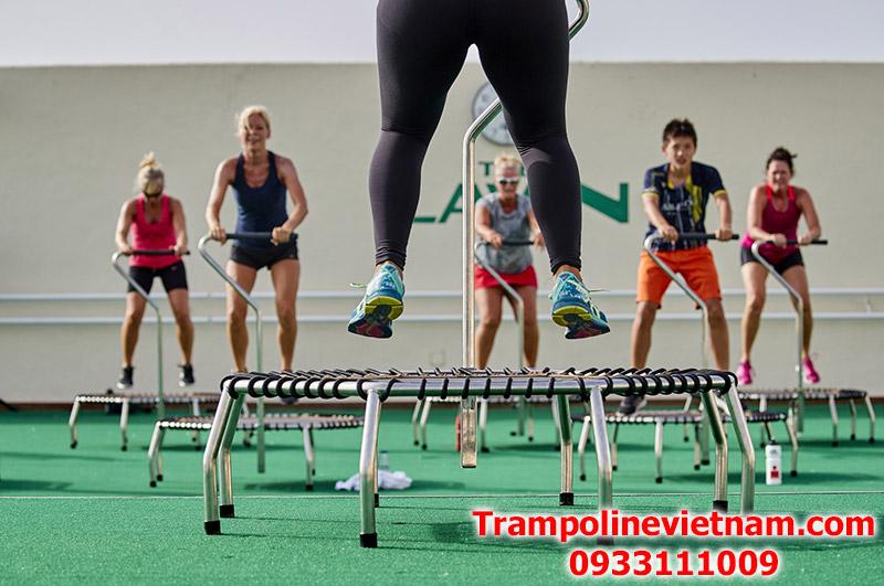 Trampoline jumping Fitness