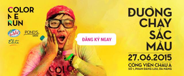 Color me run - duong chay sac mau - da nang 2015