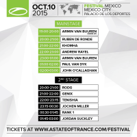A State Of Trance Festival - Mainstage (10.10.2015) @ Mexico City, Mexico