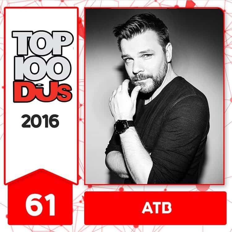 ATB at No.61 of the DJ Mag 100 2016