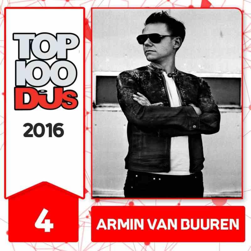 Armin van Burren at No.4 of the DJ Mag 100 2016