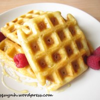 Fluffy and Buttery Belgian Waffles