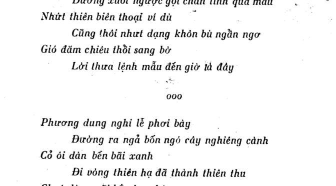 """""""Lệnh mẫu"""" và  một bài thơ hiếm của Bùi Giáng"""