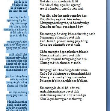 Vể một bản nhạc phổ thơ của Anh Bằng