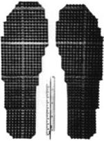 Forskarna köpte en gummimatta med mönster på och klippta därefter helt enkelt ut sulor som passade till skorna