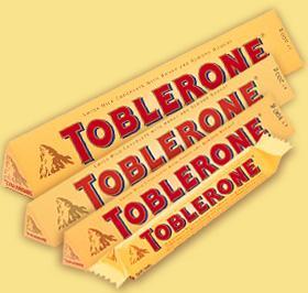 Toblerone i olika storlekar