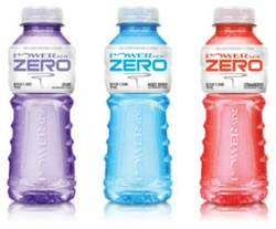 Powerade zero, en sportdryck helt utan kolhydrater