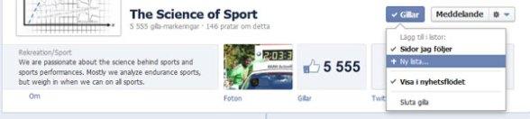 Hur du skapar en lista för sidor på Facebook