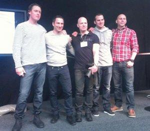 Colting, Roberto, Danielsson, Gudiol och Jacobsen efter debatten kring Crossfit