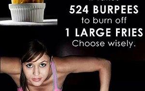 Du kan inte kompensera för dåliga mat med träning