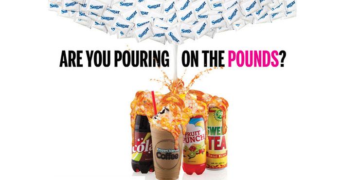 Drycker med socker är dåligt för vikten och hälsan