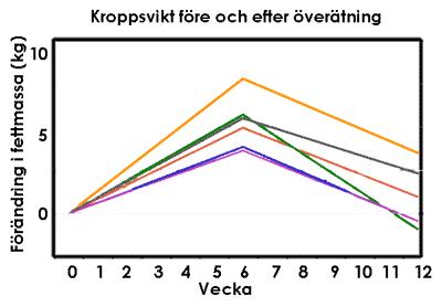 Exempel på viktreglering hos människor