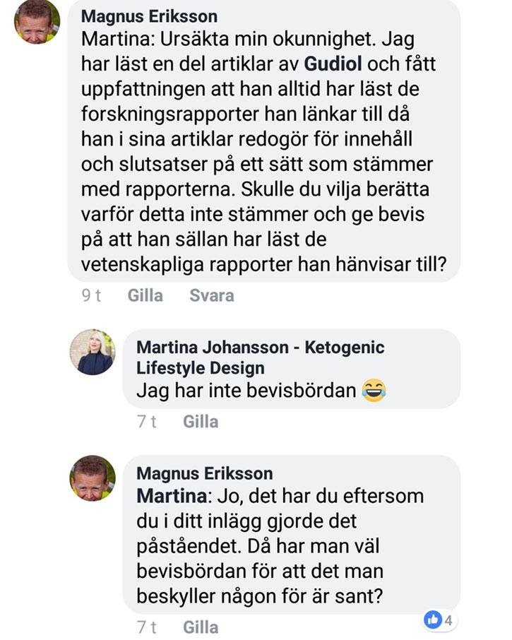 Martina Johansson ljuger