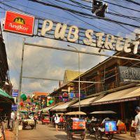 シェムリアップの街中、オールドマーケット、ナイトマーケット、パブストリート界隈~昼と夜の様子!!