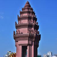 カンボジア 首都プノンペン~独立記念塔 、シアヌーク通り周辺の広場の昼と夜の様子。。。