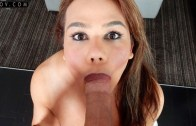 Tspov – Claudia Rosa in Amateur Latina TS Enjoys Slobbering on the Cock