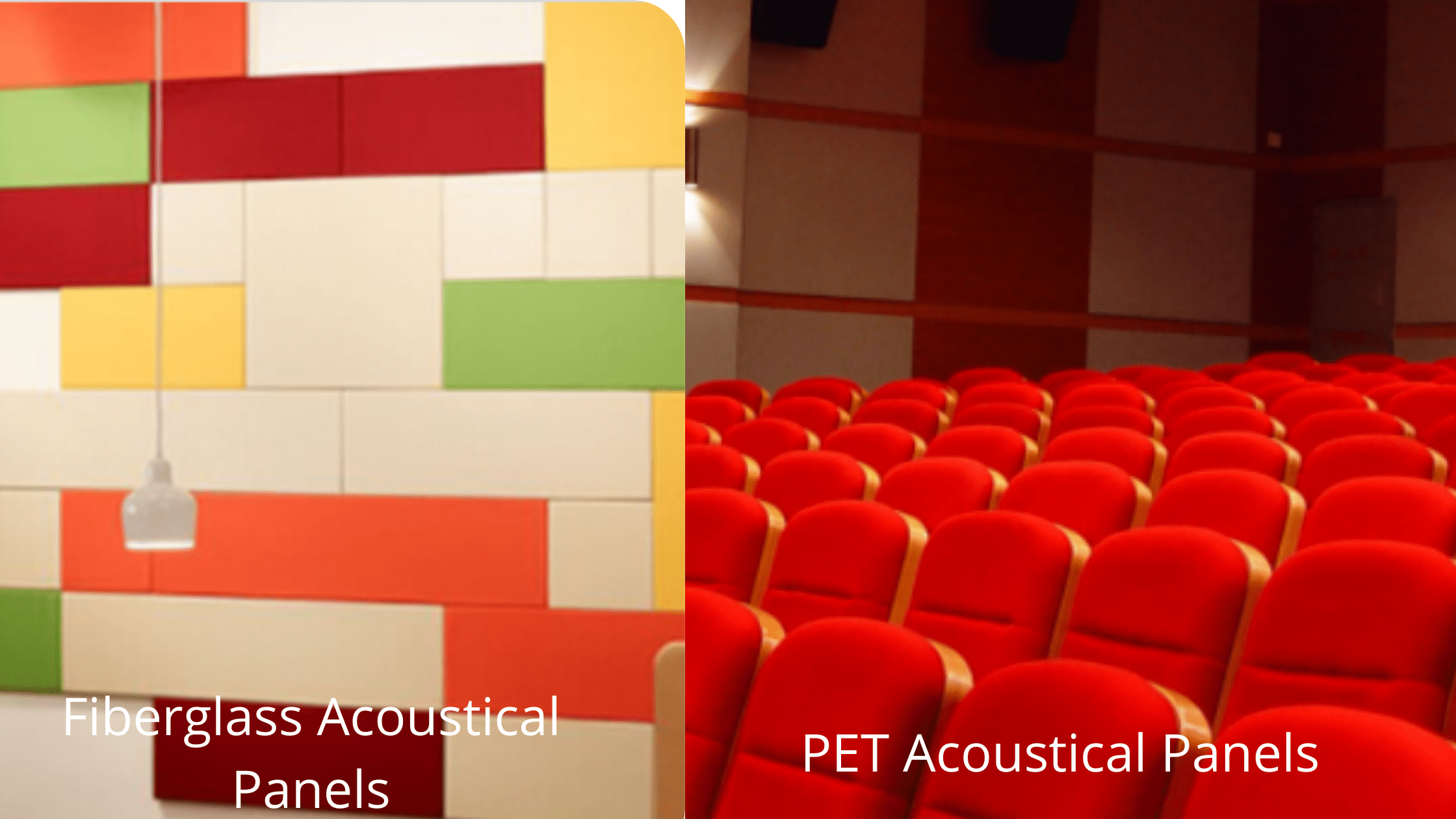 Difference between Fiberglass Acoustical Panels and PET Acoustical Panels
