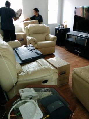 Furniture arrives