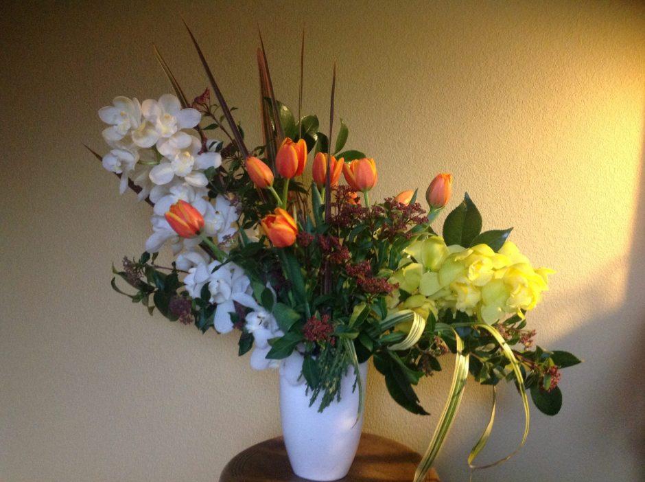 cymbidium & tulip