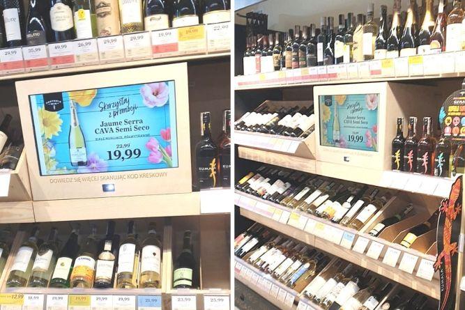 transform regały z infokioskiem do win dla sklepów