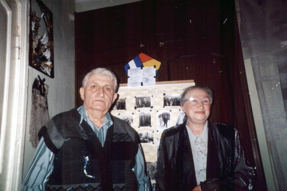 Сарра Шпитальник и ее муж, Моисей Шпитальник (Кишинев, Молдова, 2001)