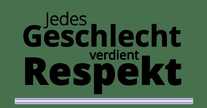 Aufkleber - Jedes Geschlecht verdient Respekt _mit_Flagge