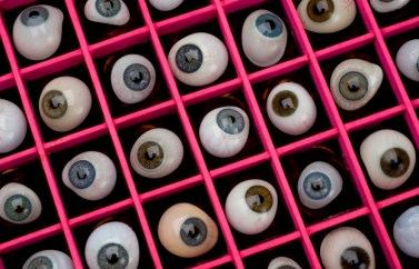 L0058938 Set of 50 artificial glass eyes, all shapes and sizes, by E.