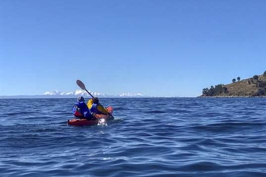 Kayak sur la lac Titicaca